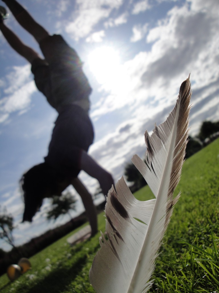 Me doing a hand stand - Taken on Magdalen Green by Craig Mooney